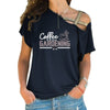 Coffee Then Gardening Cross Shoulder T-shirts