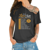 Libra Facts Cross Shoulder T-shirts