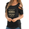 Born In Chicago Shoulder T-shirts