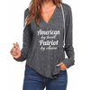 American Patriot V-neck Hoodies