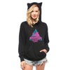 Cat On Synthesizer In Space Hoodie