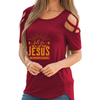 Fall For Jesus Shoulder T-shirts