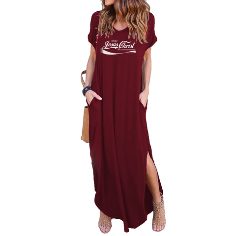 Enjoy Jesus Pocket Dresses