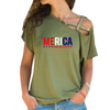 'Merica Cross Shoulder T-shirt