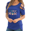 A-MERICAT MOM Shoulder T-shirts