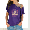 Aquarius Woman Cross Shoulder T-shirts