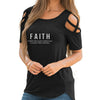 Faith - Luke 1:37 Shoulder T-shirts