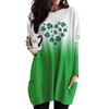 Full Heart With Clover Long Sleeves Gradient