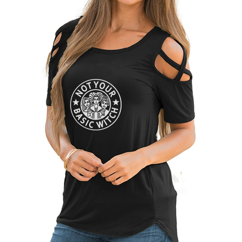 Basic Witch Shoulder T-shirt