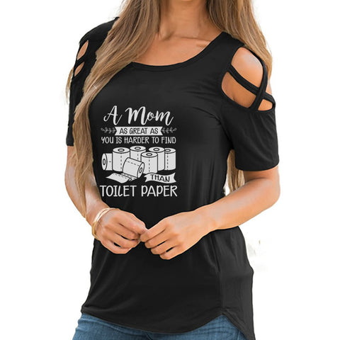 A Mom As Great Shoulder T-shirts