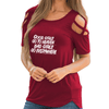 Good Girls & Bad Girls Shoulder T-shirts
