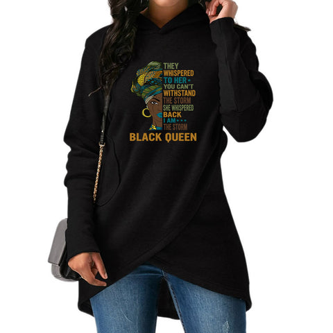 Black Queen Long Sweatshirts 01