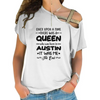 Born In Austin Cross Shoulder T-shirts