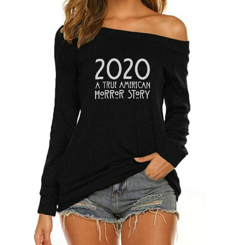 A True American Horror Story Off Shoulder Long Sleeves