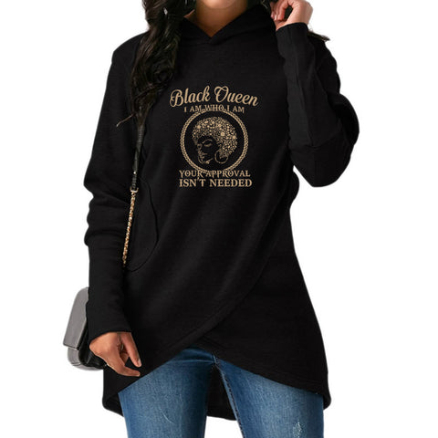 Black Queen Long Sweatshirts