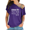 Alabama Girl Cross Shoulder T-shirt