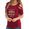 Born In Seattle Shoulder T-shirts