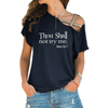Thou Shall Not Try Me Cross Shoulder T-shirt