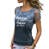 American Patriot Cut Loose Shoulder T-shirt