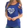 Full Heart With Clover Shoulder T-shirt