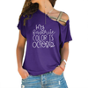 Color Is October Cross Shoulder T-shirts