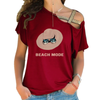 Beach Mode Cross Shoulder T-shirts
