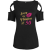 Fabulous At 50 Shoulder T-shirts