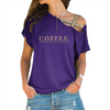 COFFEE Cross Shoulder T-shirts