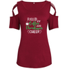 Coffee And Christmas Shoulder T-shirts