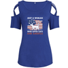 Loves Cats And America Shoulder T-shirts