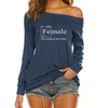 Female Off Shoulder Long Sleeves
