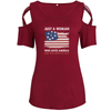 Loves America And Was Born In July Shoulder T-shirts