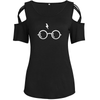 Glasses and Scar Shoulder T-shirts