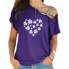 Full Heart With Clovers Cross Shoulder T-shirts