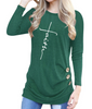 Faith Cross Long Sleeve Shirts