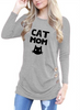Cat Mom Long Sleeve Shirts