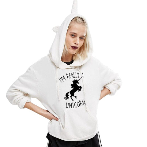 I'm Really A Unicorn Hoodies