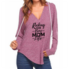 Boy Mom Life V-neck Hoodies