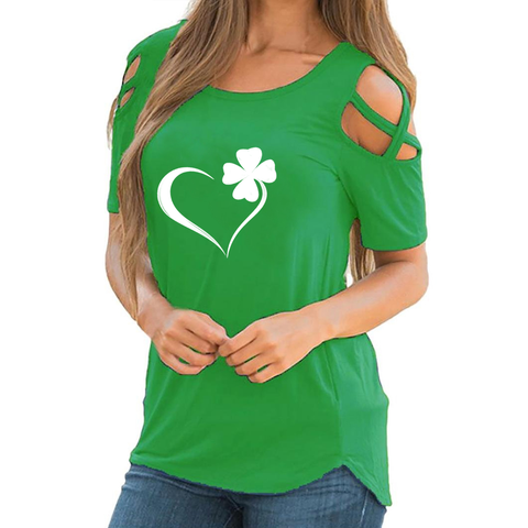 Clover Heart Shoulder T-shirt