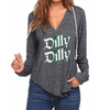 Dilly Dilly V-neck Hoodies