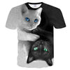 Cool 3D Black and White Cat