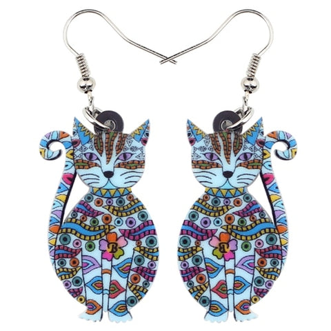 Floral Cats Earrings
