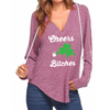 Cheers Bitches V-neck Hoodies (R.Hand)