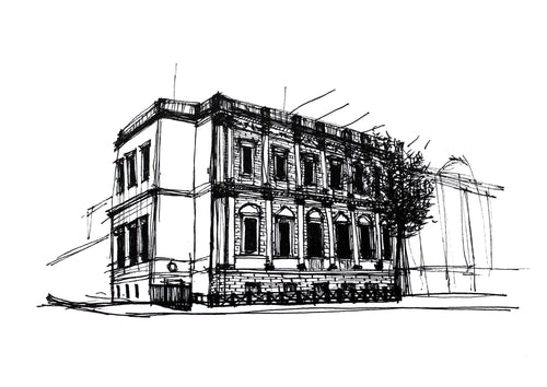Banqueting House London Sketch Architectour Guide
