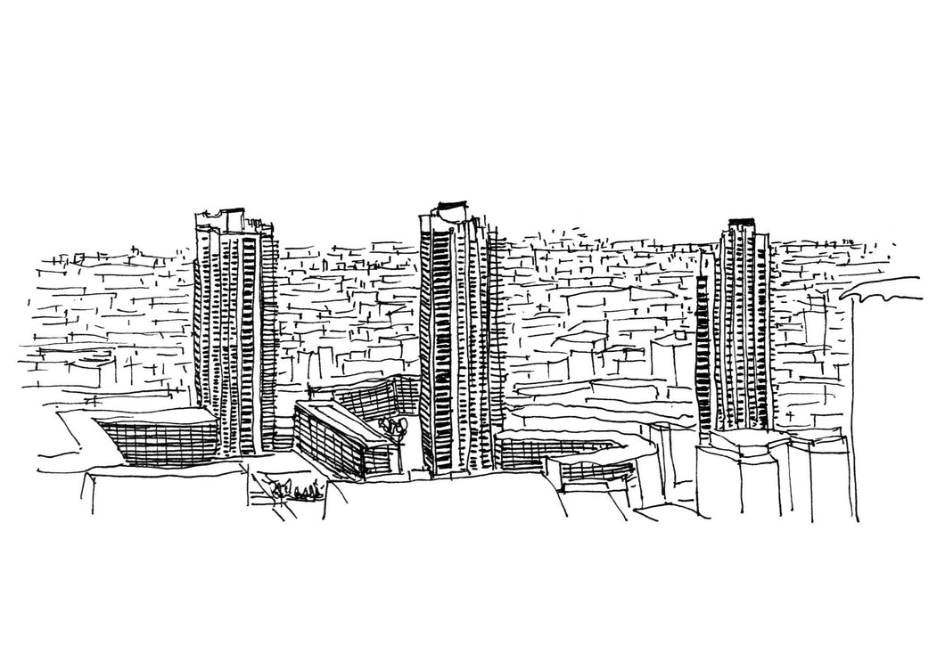Barbican Estate Sketch Architectour Guide