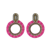 Load image into Gallery viewer, EVA PINK EARRINGS