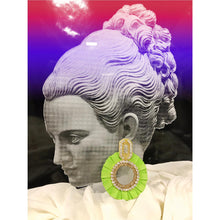 Load image into Gallery viewer, EVA GREEN EARRINGS