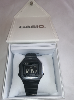 Casio Mens B650WB-1BDF Retro Digital Square Watch