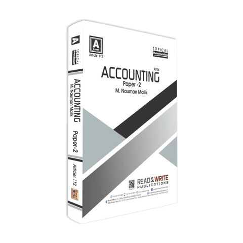 Cambridge AS-Level Accounting (9706) Paper-2 Topical R&W 112