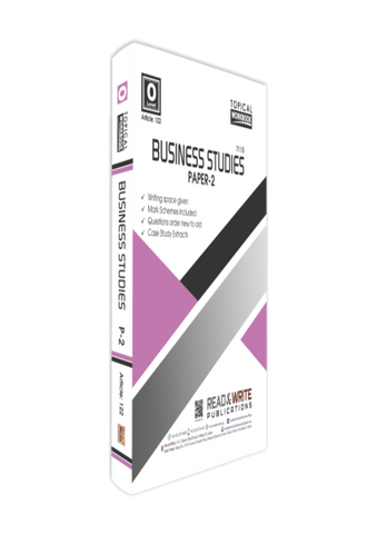 Cambridge IGCSE/O-Level Business Studies (0450/7115) P-2 Topical Workbook by Editorial Board R&W 122
